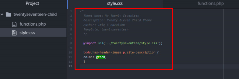 wordpress css custimization
