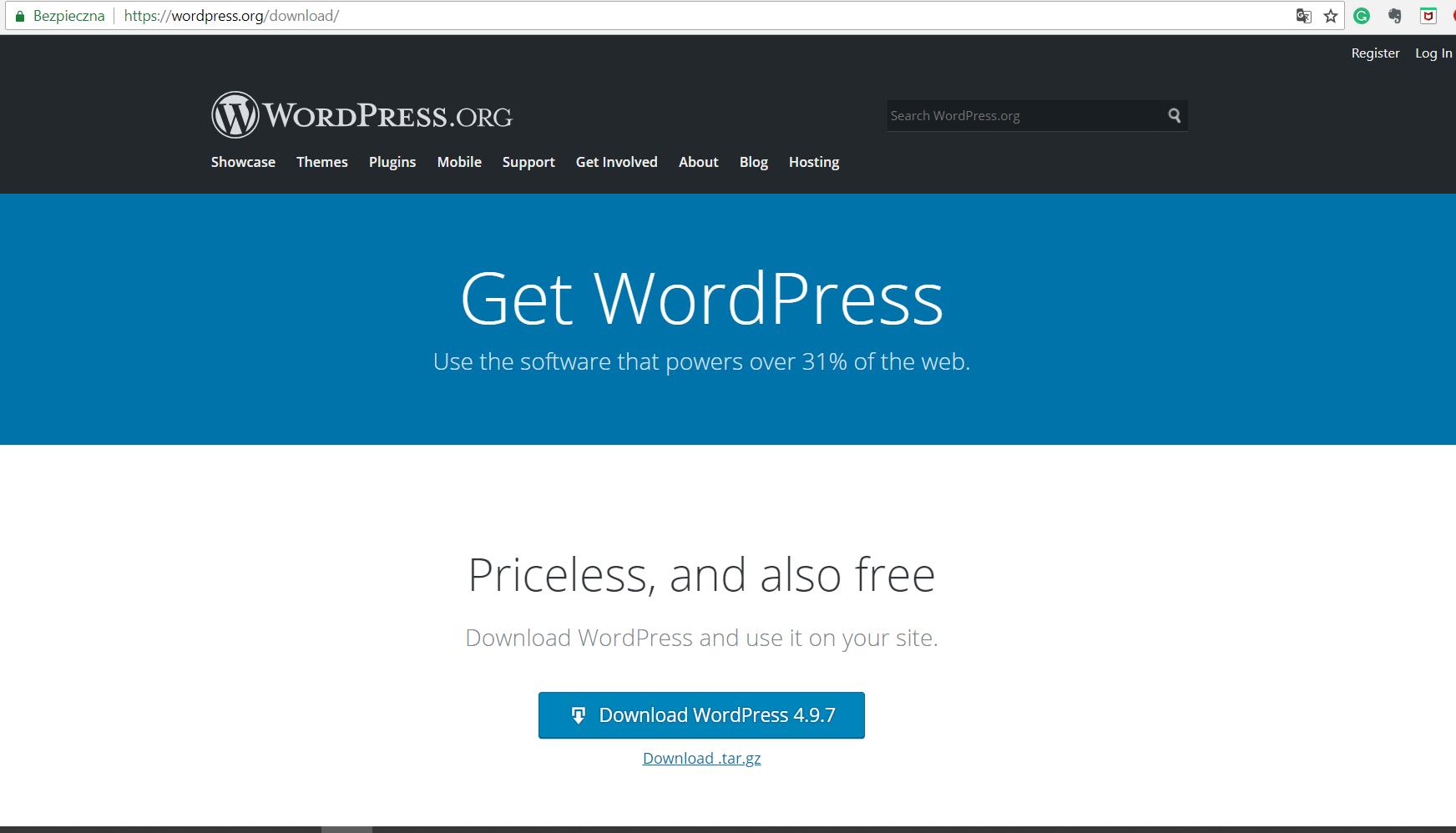 wordpress.org setup
